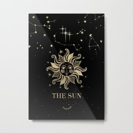 The Sun Tarot Metal Print