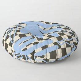 Modern Retro Geometric Natural Floral Leaf Design II Floor Pillow