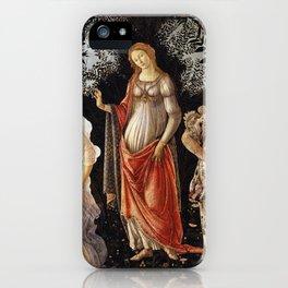 La Primavera - Allegory Of Spring - Sandro Botticelli iPhone Case