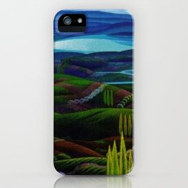 The Primeval Forest landscape painting by Gerardo Dottori iPhone Case