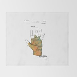 Golf Glove Patent 1955 Throw Blanket