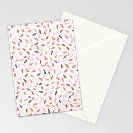 Falling Leaves Seamless Pattern Stationery Cards