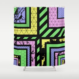 Pastel Corners (Abstract, geometric, textured designs) Shower Curtain