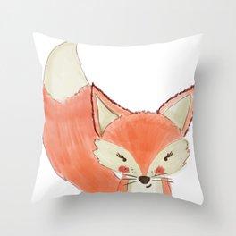 Woodland Cuties || Franny Fox Throw Pillow