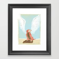 All Dogs Go to Heaven (Golden Retriever) Framed Art Print