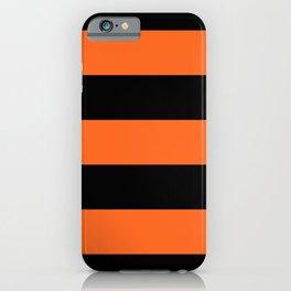 Orange and Black Stripe Halloween Pattern iPhone Case