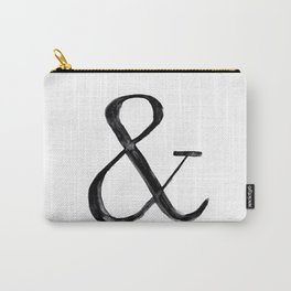 Ampersand watercolor Carry-All Pouch