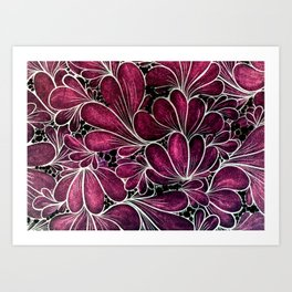 Funny Flowers Art Print