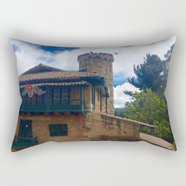 Mount Monserrate at Christmastime Maybe, Bogota, Colombia Rectangular Pillow