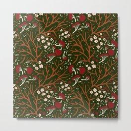 red mushrooms on green Metal Print