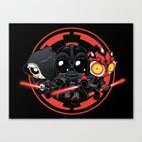 dark side Canvas Prints featuring Dark Side by Dooomcat