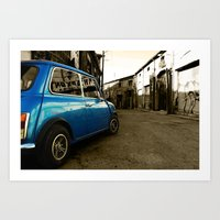 mini cooper Art Prints featuring Mini Cooper  by Vasilis Kleanthous