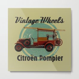 Vintage Wheels: Citroën Pompier Metal Print