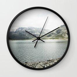 Scenic Passo dello Spluga in Italy Wall Clock