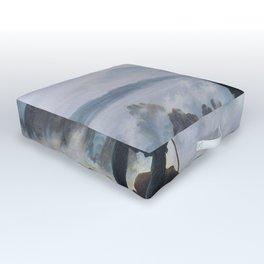Wanderer above the Sea of Fog - Caspar David Friedrich Outdoor Floor Cushion