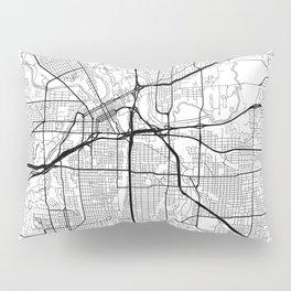 Fort Worth Map White Pillow Sham