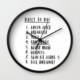 Daily to do Wall Clock