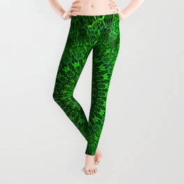 Green Bohemian Mandala Garden Leggings