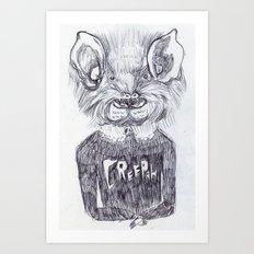 LA CREEPAH Art Print
