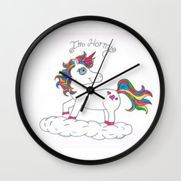 Unicorns are Horny Wall Clock