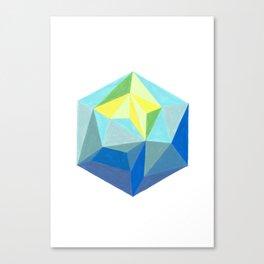 Polygonal art 1 Close up Canvas Print