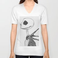 jack daniels V-neck T-shirts featuring Jack by Paxelart