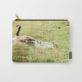 Mom and Babies Swimming Goslings Carry-All Pouch