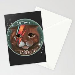 Meowy stardust Bowie fan artwork ziggi stardust  Stationery Cards