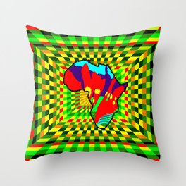 Colorful African Check Pattern Abstract Print Throw Pillow