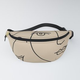picasso dove lady - peace lady  Fanny Pack