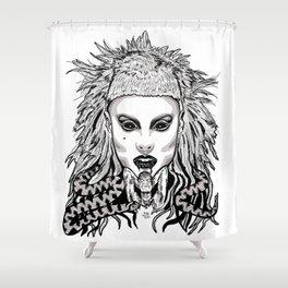 Die Antwood Inspired Illustration Shower Curtain
