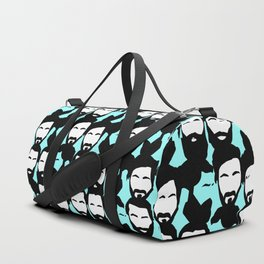 beards are sexy_blue Duffle Bag