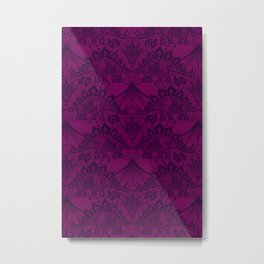 Stegosaurus Lace - Purple Metal Print