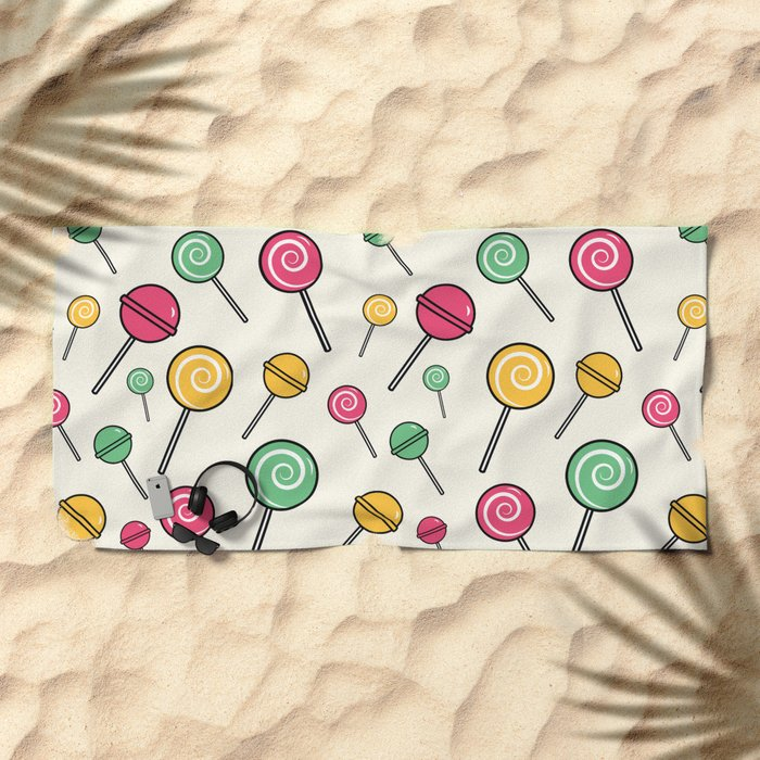 Lolli-lollipop Beach Towel