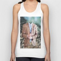 suit Tank Tops featuring Suit by John Turck