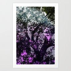 Purple Branches Art Print