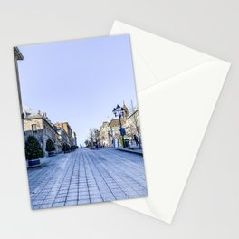 Cold Day in Vieux Montreal Old Town Stationery Cards