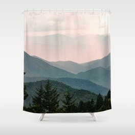 Smoky Mountain Pastel Sunset Shower Curtain