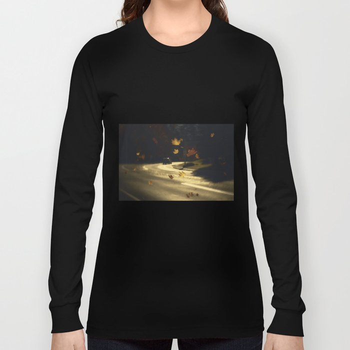Autumn shower! Take me with you away from a dreadful winter! Long Sleeve T-shirt