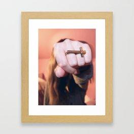 cross ring Framed Art Print