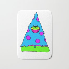 Illuminati Pizza - Swag Pepperoni Confirmed BLUE Bath Mat