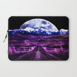 Highway to Eternity (moon mountain) Fuchsia Laptop Sleeve