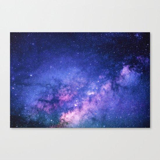 Galaxy, Blue Purple Night Sky, Universe Canvas Print
