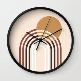 Minimal Sunset Rainbow Wall Clock