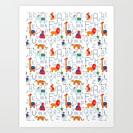 Alphabet Circus Art Print