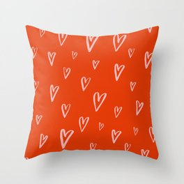 Heart Doodles 2 Throw Pillow