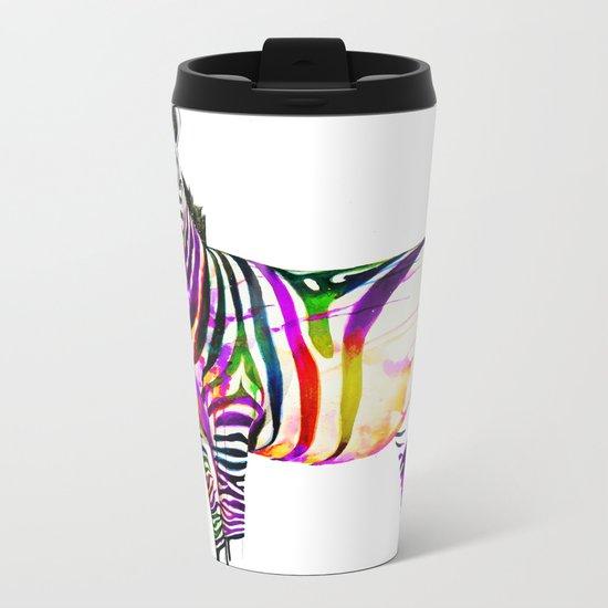 zebra painting Metal Travel Mug