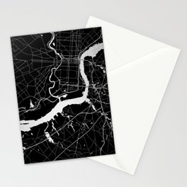 Philadelphia - Black and Silver Stationery Cards