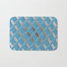 Blue Grill Abstract Bath Mat