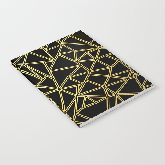 Abstract Blocks Gold Notebook